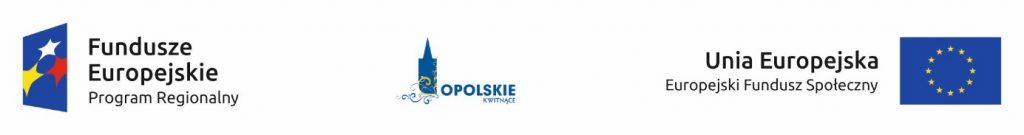 Logotyp: Fundusze Europejskie Program Regionalny, Opolskie Kwitnące, Unia Europejska Europejskie Fundusz Społeczny