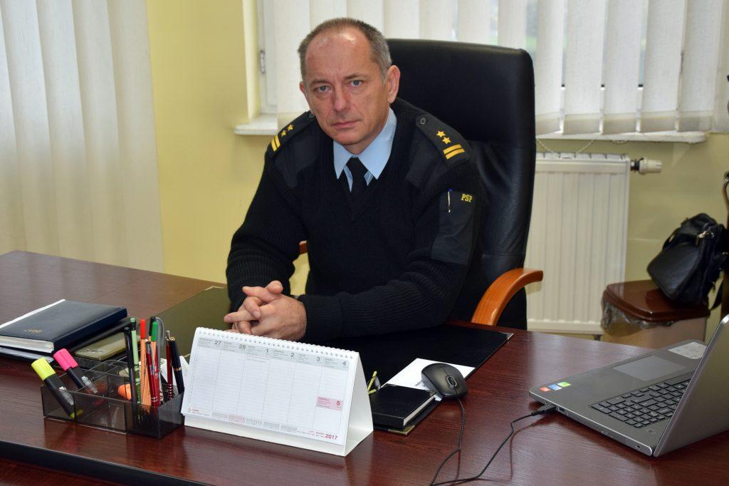 Komendant Powiatowy PSP w Brzegu Dariusz Maciążek