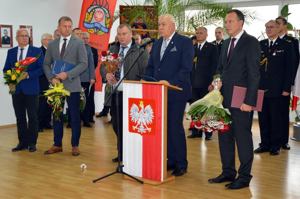 Uroczystość powołania nowego komendanta Państwowej Straży Pożarnej w Brzegu