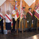 Poczty sztandarowe podczas uroczystości z okazji 75. rocznicy Rzezi Wołyńskiej