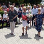 Składanie wieńców podczas uroczystości z okazji 75. rocznicy Rzezi Wołyńskiej
